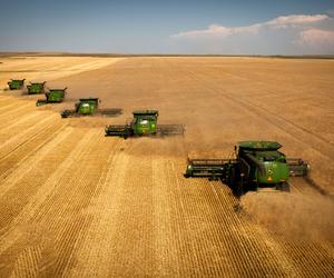 combine, John Deere, and summer image