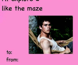 dylan o'brien, Valentine's Day, and maze runner image