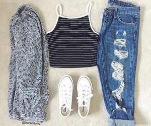 outfit, jeans, and summer image