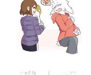 chara, undertale, and frisk x asriel image