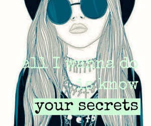 girl and secrets image
