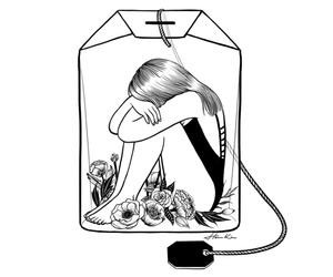 art, drawing, and tea image