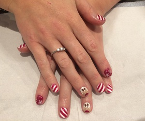 handpainted, nails, and christmasnails image