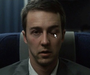 fight club, funny, and edward norton image