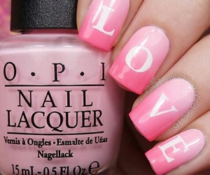 nails, Valentine's Day, and pink image