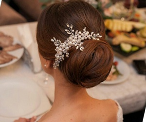bride, comb, and hair style image
