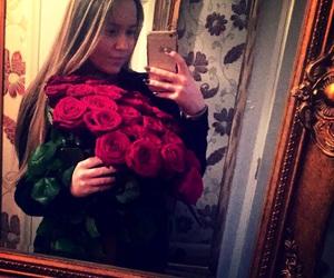 long, roses, and makeup image
