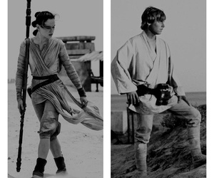 force, jedi, and LUke image