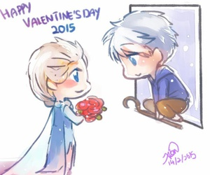 drawing, jack frost, and roses image