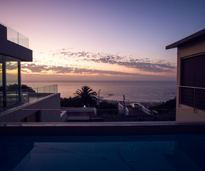 sunset, house, and luxury image