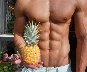 boy, pineapple, and Hot image