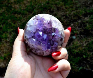 beautiful, round, and crystal image