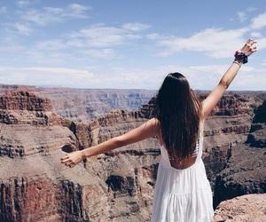 girl, travel, and dress image