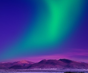sky, green, and aurora image