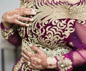 caftan, bride, and henna image