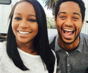 Alfie Enoch, couple, and aja naomi king image