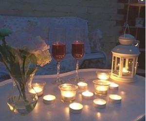 candles, garden, and romantic image