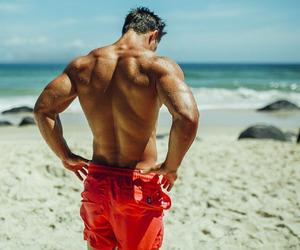 badass, beach, and fitness image