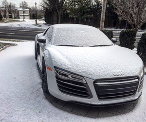 audi, r8, and snow image