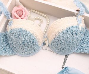 lingerie and blue image