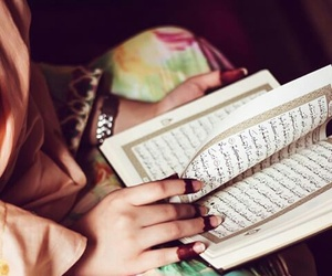 quran and girl image
