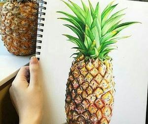 drawing, ananas, and art image