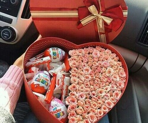chocolate, flowers, and gift image