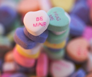 conversation hearts, february, and hearts image