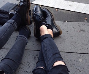 black, grunge, and shoes image