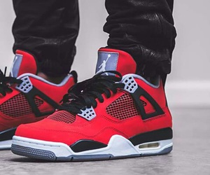 red and jordans image