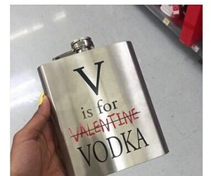 vodka, valentine, and alcohol image