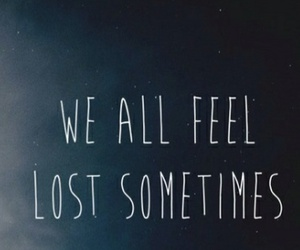 lost, quote, and sad image