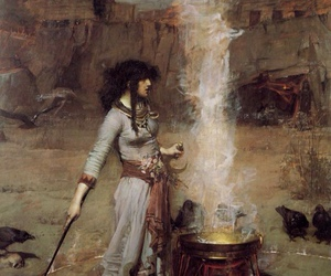 witch, art, and painting image