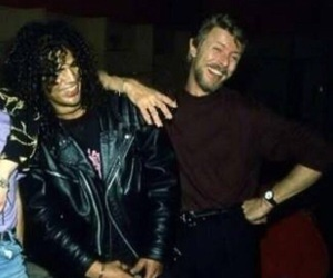 david bowie, Guns N Roses, and slash image