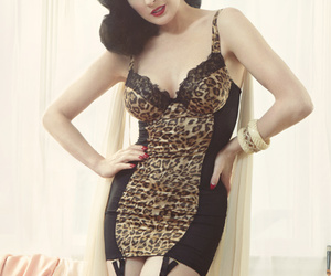 Dita von Teese, beautiful, and black hair image