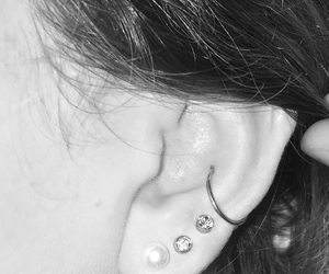 piercing, conch, and conch piercing image