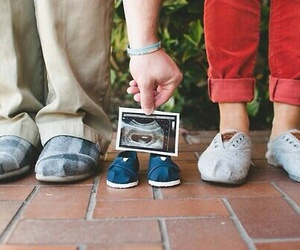 baby, family, and shoes image