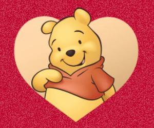 disney, heart, and Pooh bear image