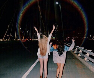 friends, grunge, and night image