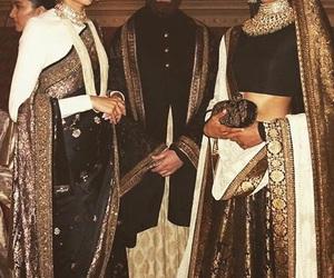 black, india, and saree image