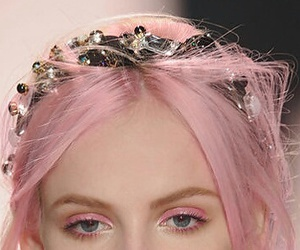 pink, hair, and model image