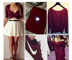 dress, maroon, and nike image