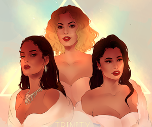 rihanna, nicki minaj, and beyoncé image