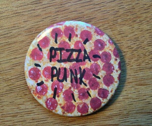 pin, pizza, and button image