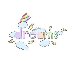 dreams, overlay, and rainbow image