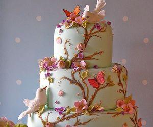 bird, cake, and yummy image