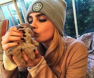 cara delevingne, model, and rabbit image