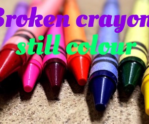 crayons and easel image