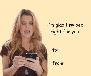 Valentine's Day, valentines card, and tinder image