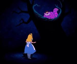alice in wonderland, alice, and cat image